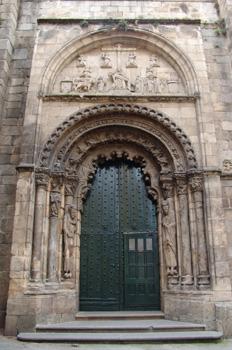 Portada de la Catedral de Orense, Galicia