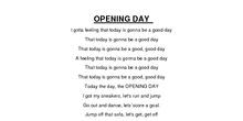 OPENING DAY SEVERO OCHOA