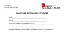 SOLICITUD DE CERTIFICADO DE TRASLADO