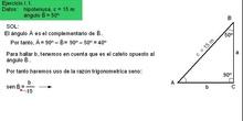 Trigonometría: 48. Ejemplo resolución triángulos 1