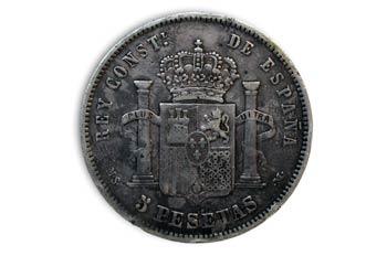 Pesetas  Alfonso XII, Cruz