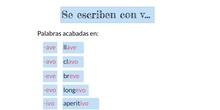 PRIMARIA - 5º - USO DE LA V - LENGUA - FORMACIÓN