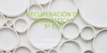 Recuperación de matemáticas 3º ESO. IES Profesor Julio Pérez