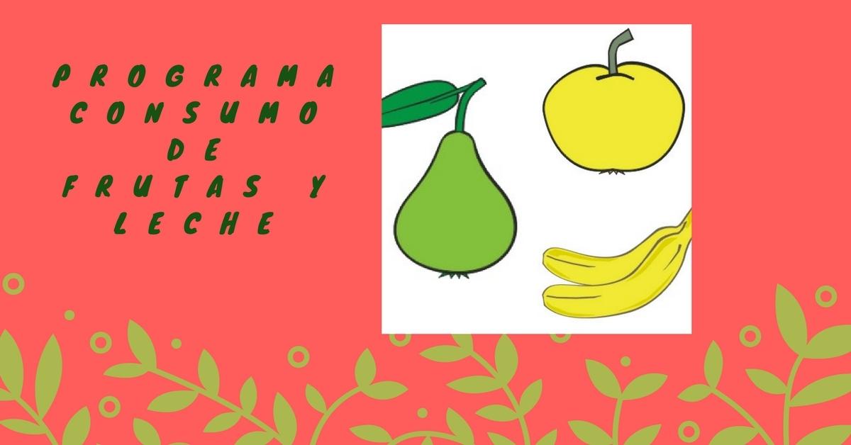 Frutas y leche