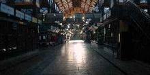 Interior del mercado de Budapest, Hungría