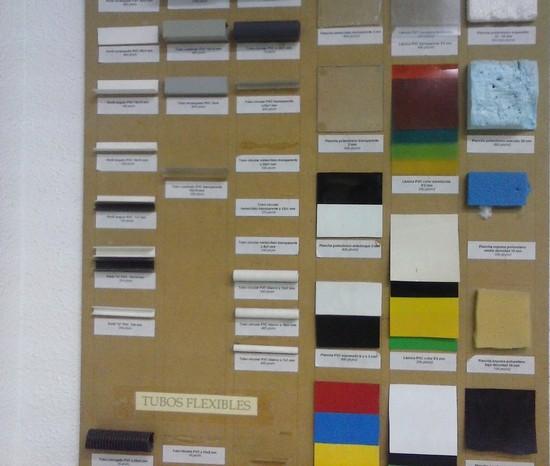 Panel de materiales plásticos