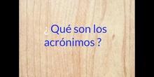 PRIMARIA - 6º - LOS ACRÓNIMOS- LENGUA Y LITERATURA- FORMACIÓN