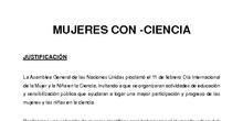 Proyecto mujeres científicas