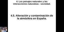 0405 Alteración y contaminación de la atmósfera en España