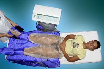 Presoterapia: colocación de complemento en pie