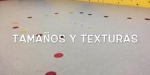 INFANTIL - 3 AÑOS B - TEXTURAS Y TAMAÑOS - ACTIVIDADES