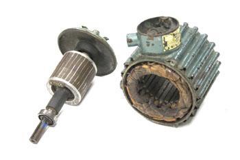 Despiece de un motor asíncrono trifásico
