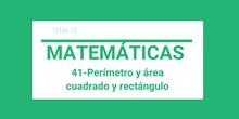 41-Perímetro y área del cuadrado y rectángulo
