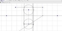 Intersección recta Horizontal con esfera