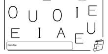 Ficha de la vocal E