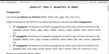 LENGUA 5º. LOS TIEMPOS VERBALES