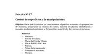P.17. ENSAYOS MICROBIOLÓGICOS