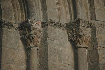 Capitel con pitón jaques, Huesca