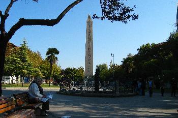 Obelisco en el Hipódromo, Estambul, Turquía