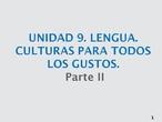 Unidad 9 lengua parte II