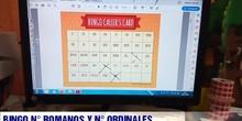 Bingo ordinales y números romanos