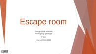 ESCAPE ROOM 1984