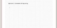 Conversión de unidades - Ejercicio 3