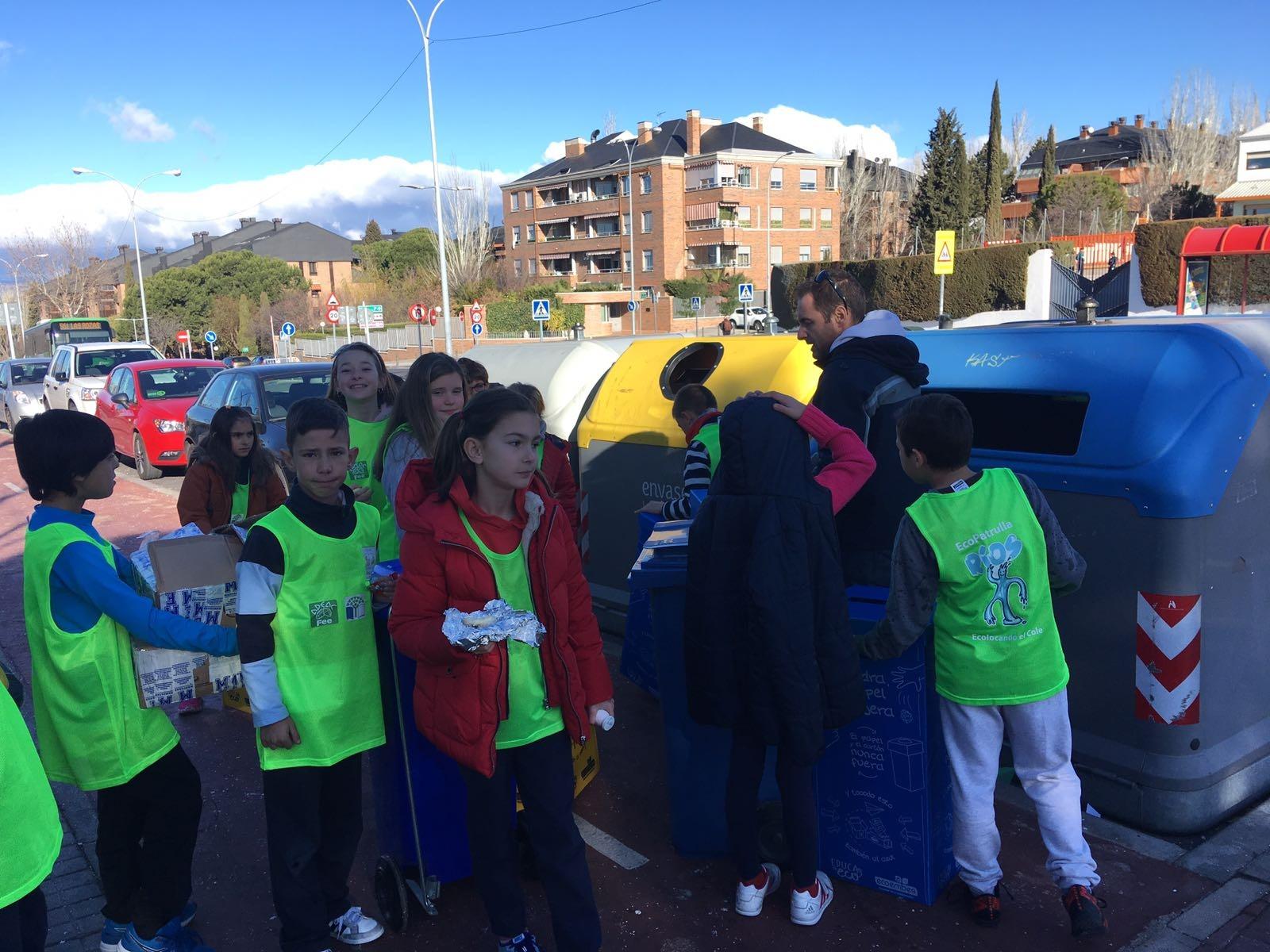 2018_02_EcoPatrullas reciclando_CEIP Fernando de los Ríos_Las Rozas 6