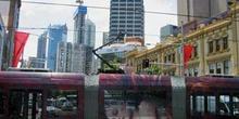 Tranvía en el centro de Sydney, Australia