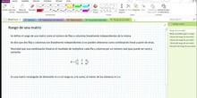 2Bto - 01 - Matrices - 16 - Rango. Cálculo con el método de Gauss