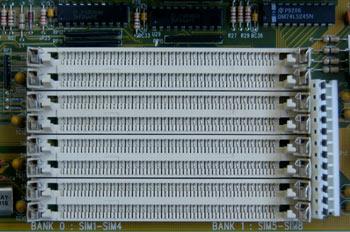 Detalle Zócalo de memoria tipo SIMM (30 contactos)