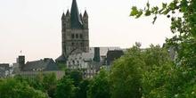 Panorámica de zona medieval de Colonia, Alemania