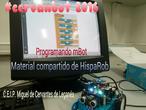 #cervanbot: mBot de Hisparob II - Programando mBot (grabado por alumnos)