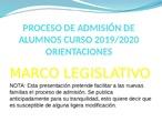 PROCESO DE ADMISIÓN 2019-2020