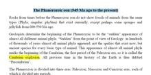 The Phanerozoic eon