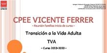 Tramo TVA 2019-2020. Presentación familias