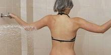 Chorros a presión: posición espalda extremidad superior izquierd