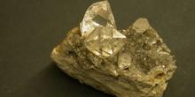 Cuarzo, var. cristal de roca, Diamante de Herkimer (EE.UU.)