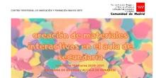 SEMINARIO CREACIÓN DE MATERIALES INTERACTIVOS EN EL AULA DE SECUNDARIA - Nº769