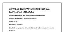 Estudio de las greguerías de Ramón Gómez de la Serna y creación de una greguería.