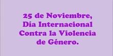 ALUMNOS DE 1º DE PRIMARIA CONTRA LA VIOLENCIA DE GENERO