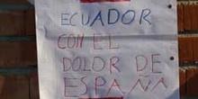 Apoyo de ciudadanos ecuatorianos a las víctimas de los Atentados