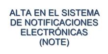 Vídeo Tutorial sobre el alta en el sistema de notificaciones electrónicas (NOTE)