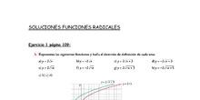 4º ESO BCD SOLUCIONES FUNCIONES RADICALES