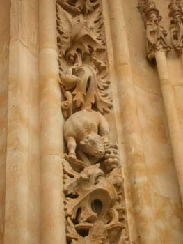 Detalle de la Catedral Nueva, Salamanca, Castilla y León