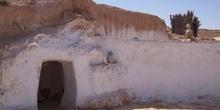 Acceso a cueva, Matmata, Túnez