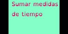 SUMAR MEDIDAS DE TIEMPO