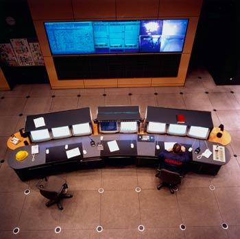 Panel de control eléctrico de un alto horno