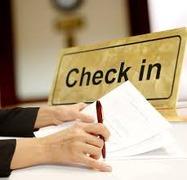 Checking hotel