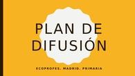 ECOPROFES Plan de difusión